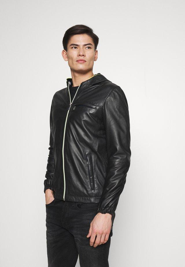 CORP - Kožená bunda - noir