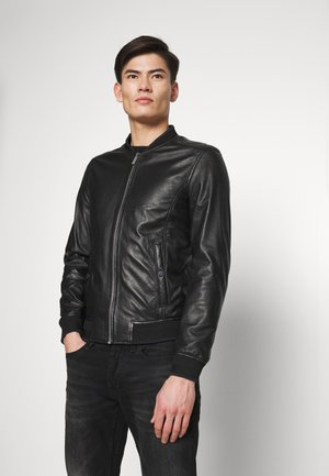 TIMELESS - Veste en cuir - noir