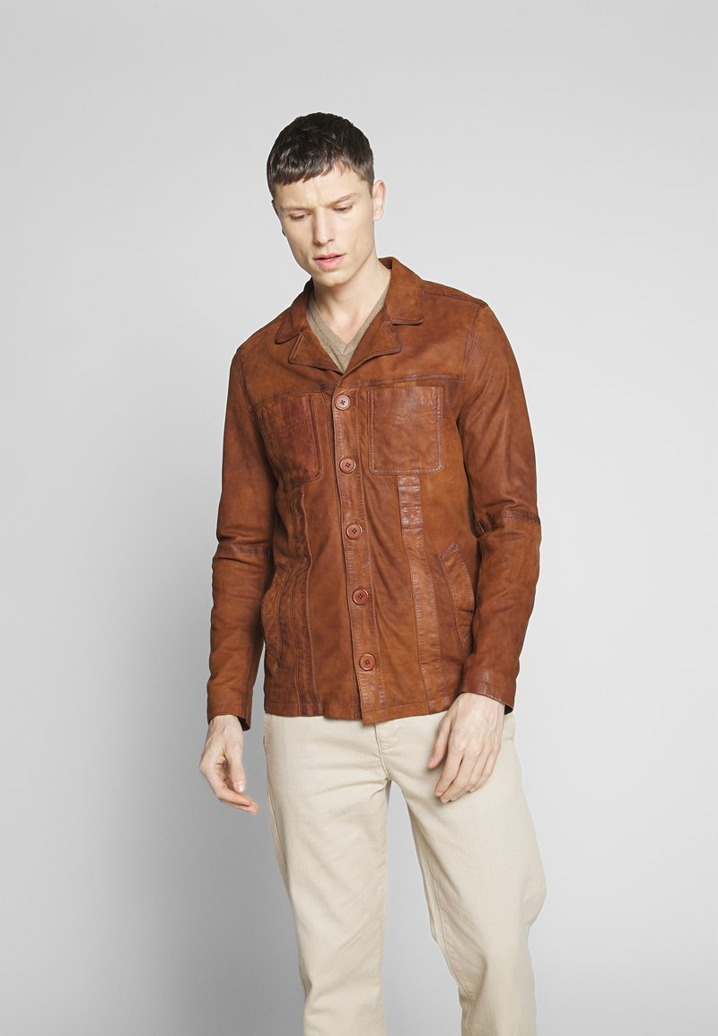 Oakwood - LEO - Veste en cuir - whisky
