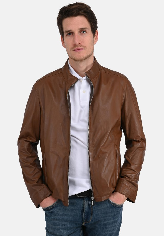 RON - Veste en cuir - cognac color