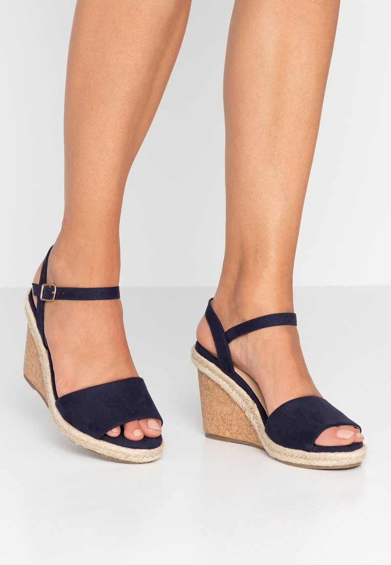 Oasis - GRACIE WEDGE - High heeled sandals - navy