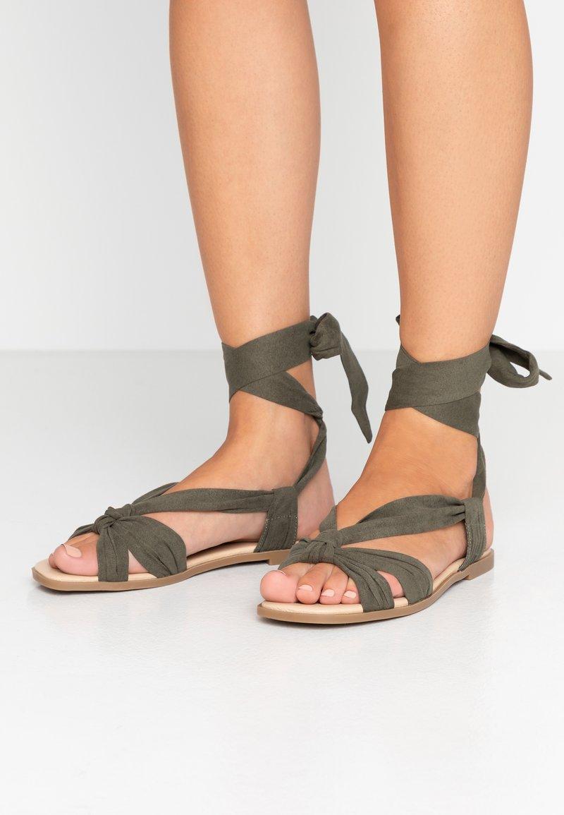 Oasis - TIE UP - Sandals - mid green