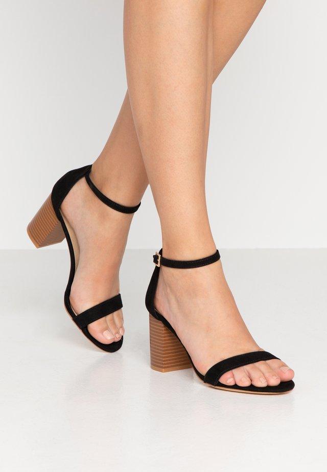 RELI BLOCK HEEL - Sandaler - black