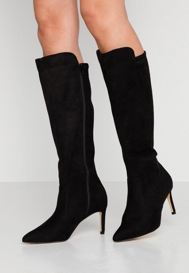 HEELED LONG BOOT - Høje støvler/ Støvler - black