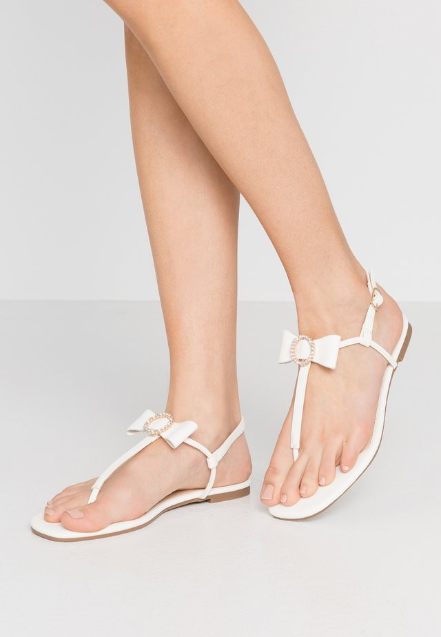 BOW TOE POST - Varvassandaalit - offwhite