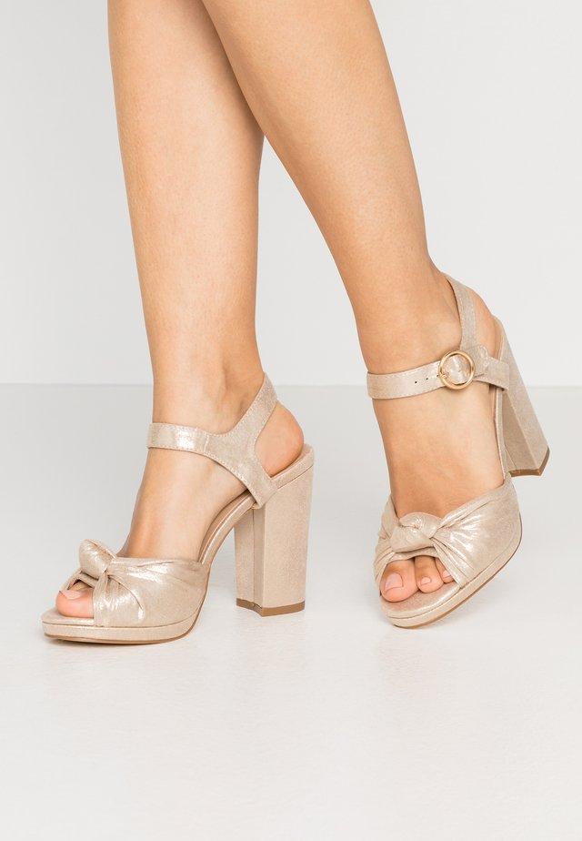 HOLLY PLATFORM  - High Heel Sandalette - gold