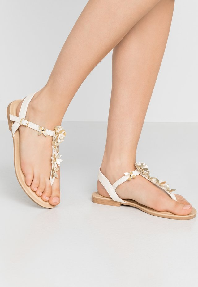 FLOWER TOE POST - Infradito - offwhite
