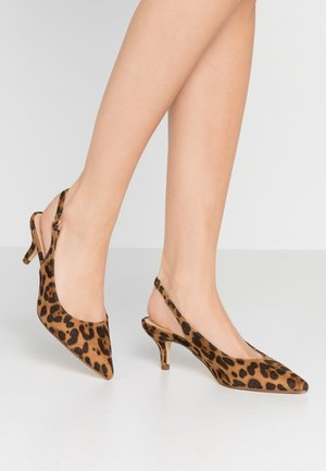 SLINGBACK - Decolleté - brown