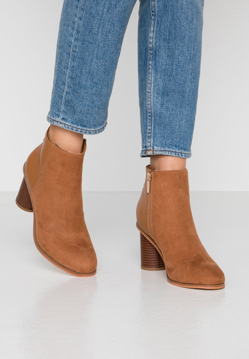 Oasis - SERENA ROUND HEEL  - Ankle boots - tan