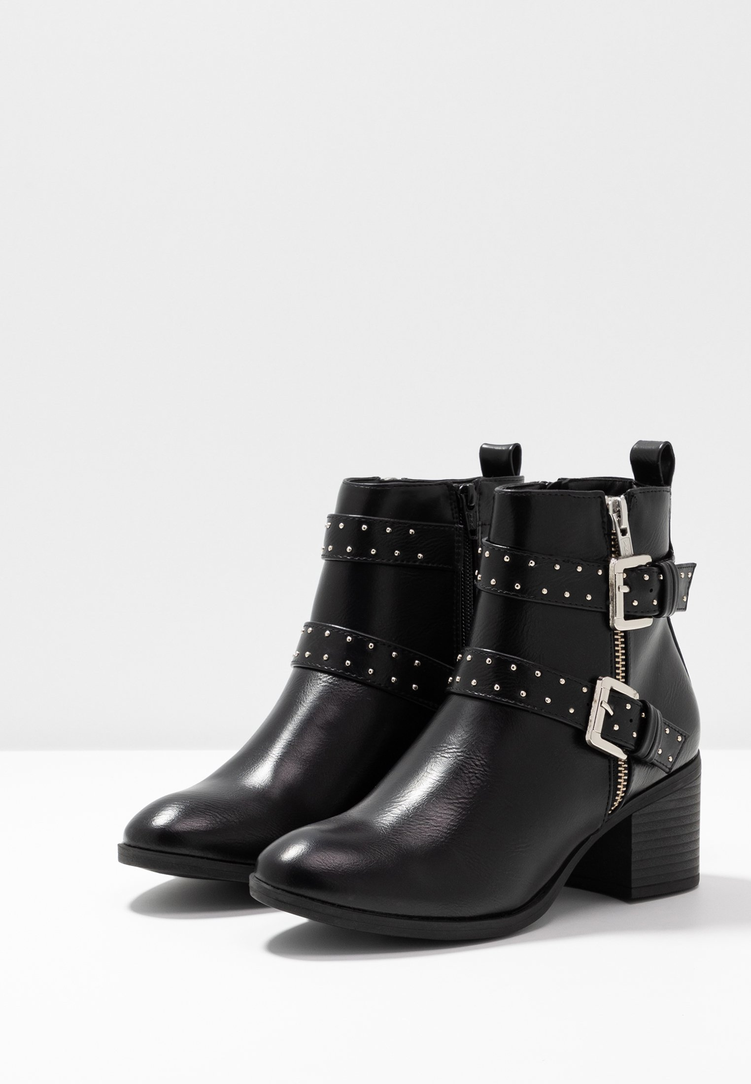 Oasis FINLEY STUDDED BUCKLE BOOT - Santiags black
