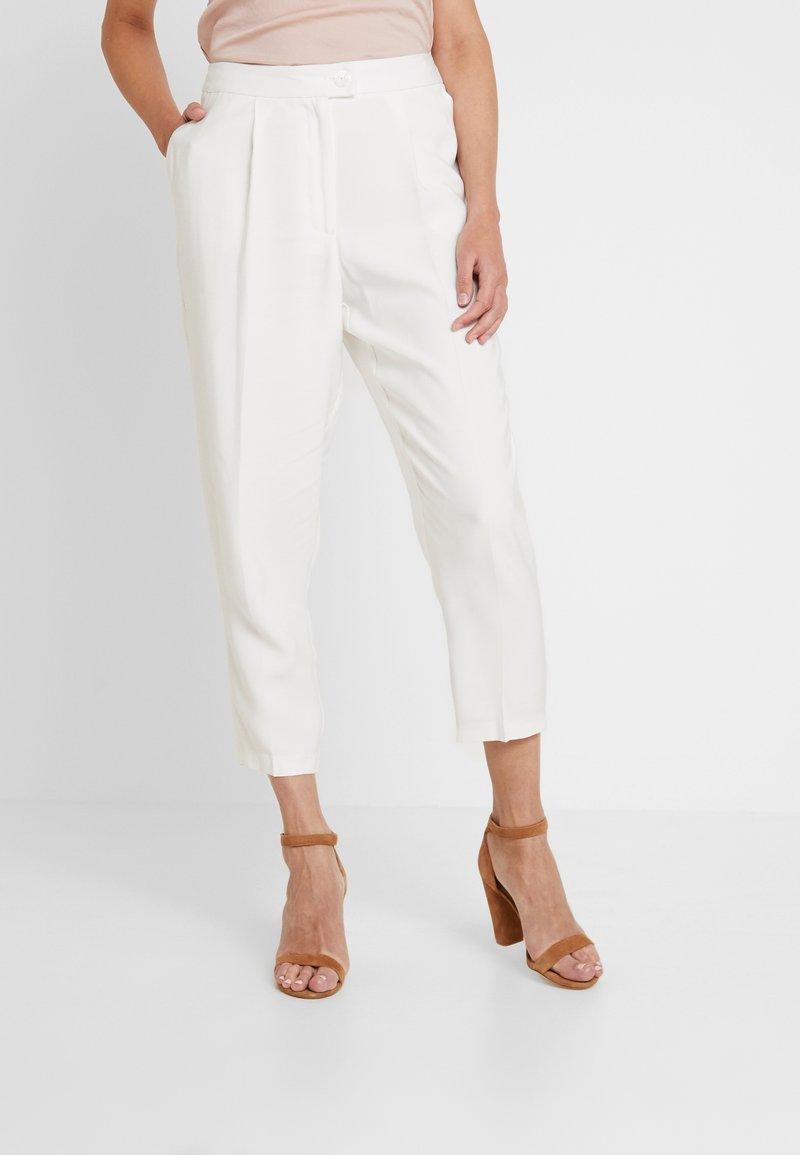 Oasis - SUIT TROUSER - Kalhoty - off white