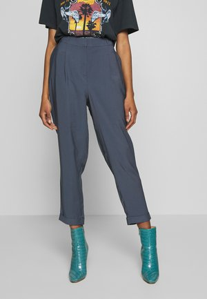 TURN UP PEG - Trousers - navy