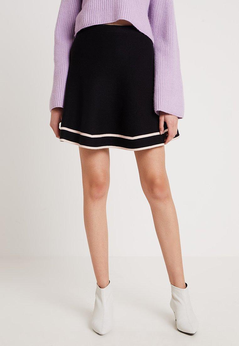 Oasis - KATY FLIPPY SKIRT - Mini skirt - black