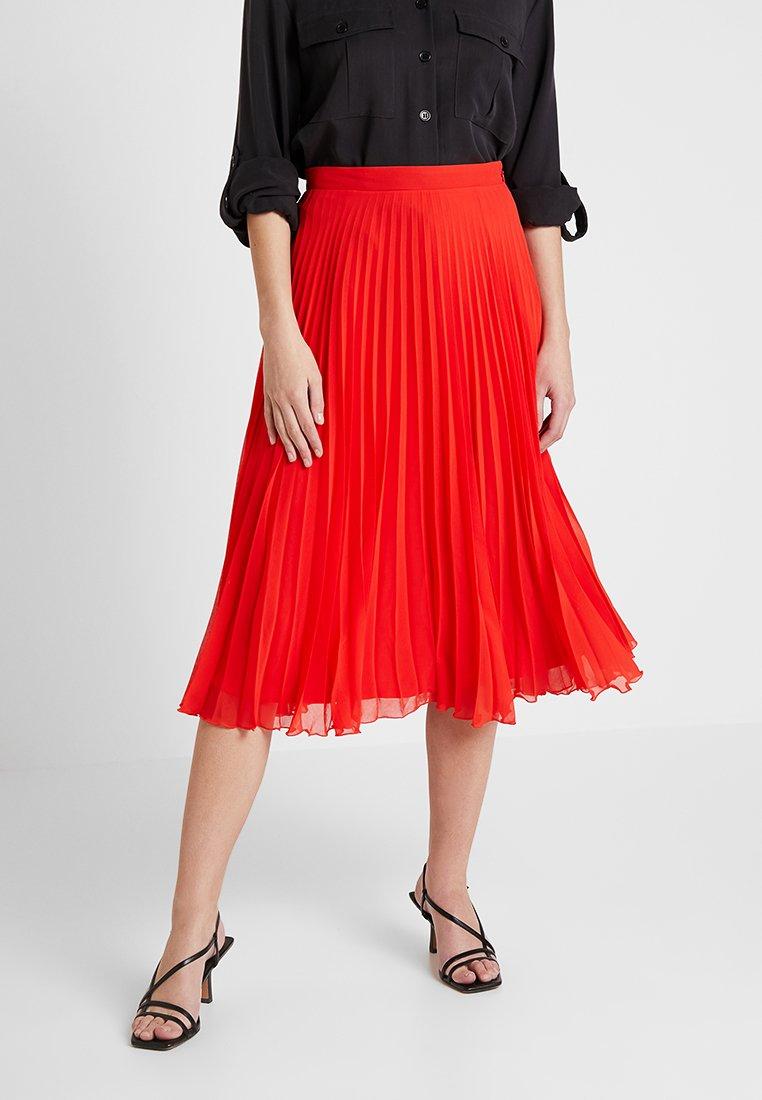 Oasis - PLEATED SKIRT - Pleated skirt - mid red