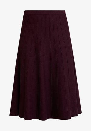 PETRA SKIRT - Spódnica trapezowa - berry