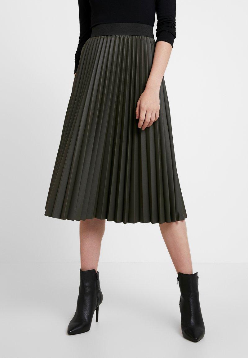 Oasis - PLEATED MIDI SKIRT - A-line skirt - khaki