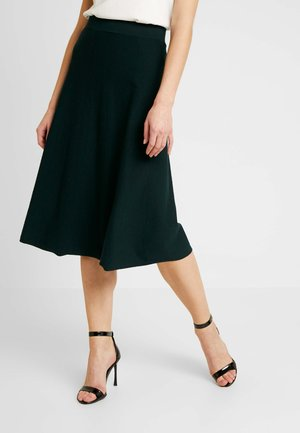 MIDI SKIRT - Jupe trapèze - deep green
