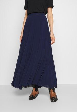 PLEATED MAXI SKIRT - Pleated skirt - navy