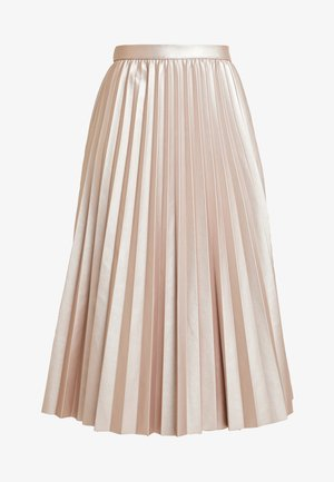 PLEATED METALLIC MIDI - A-linjekjol - mid pink