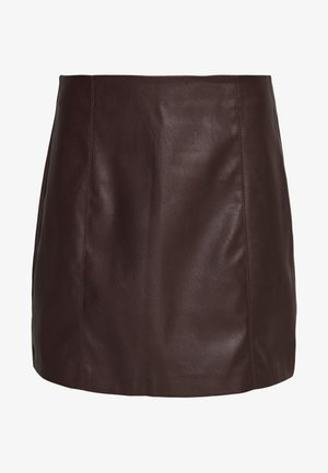 SEAMED MINI - Minigonna - brown