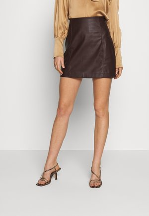 SEAMED MINI - Minirock - brown