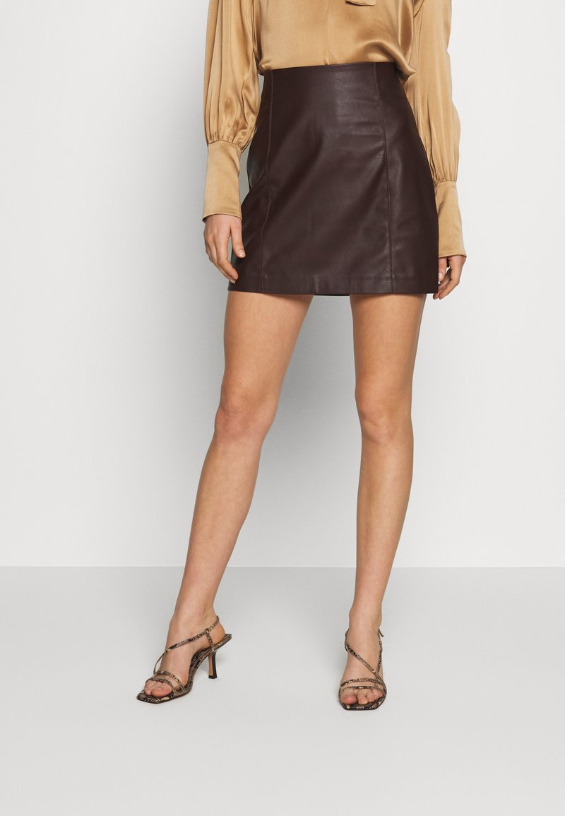 Oasis - SEAMED MINI - Minijupe - brown