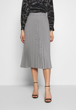 DOGTOOTH PLEATED - A-line skirt - black/white