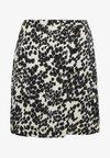 MONO TEXTURE ASYM SKIRT - A-line skirt - multi
