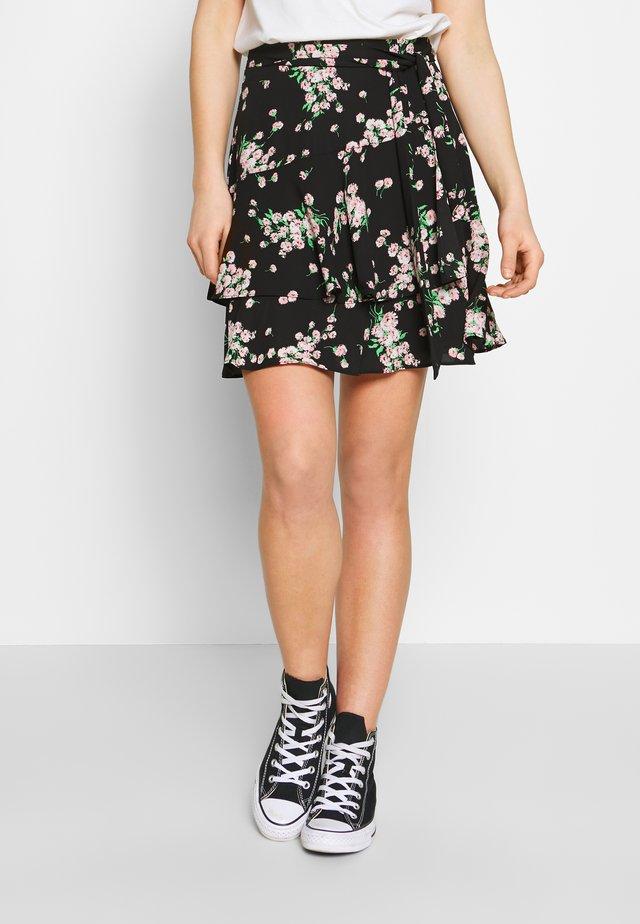 DANDELION FLIPPY SKIRT - A-snit nederdel/ A-formede nederdele - black
