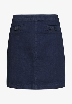 BOW SKIRT - Spódnica jeansowa - dark wash