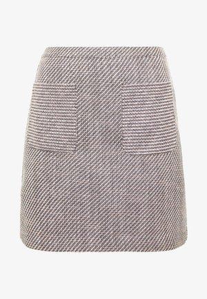 TWEED MINI SKIRT - A-snit nederdel/ A-formede nederdele - multi/blue