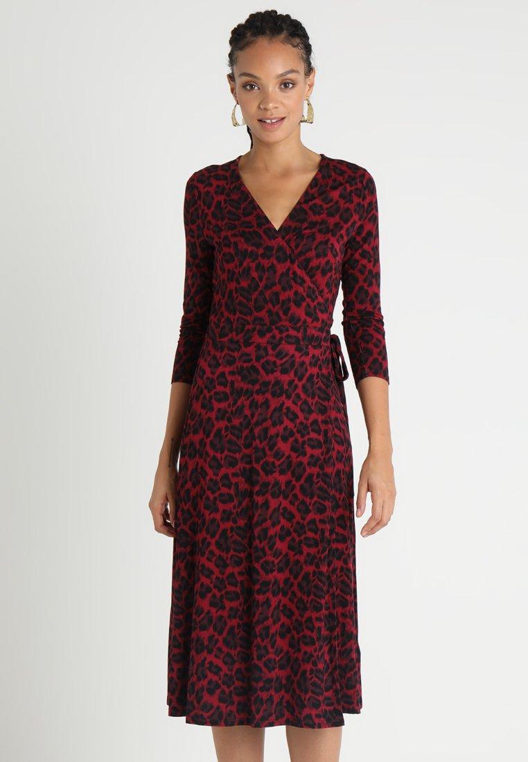 Oasis - ANIMAL CLEAN WRAP DRESS - Jerseykleid - multi purple