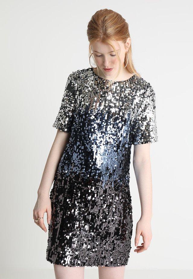 OMBRE SEQUIN SHIFT DRESS - Cocktailkleid/festliches Kleid - multi silver