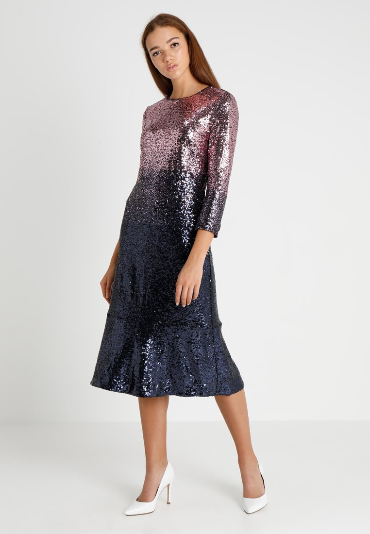 Oasis - OMBRE SEQUIN MIDI DRESS - Cocktailkleid/festliches Kleid - purple
