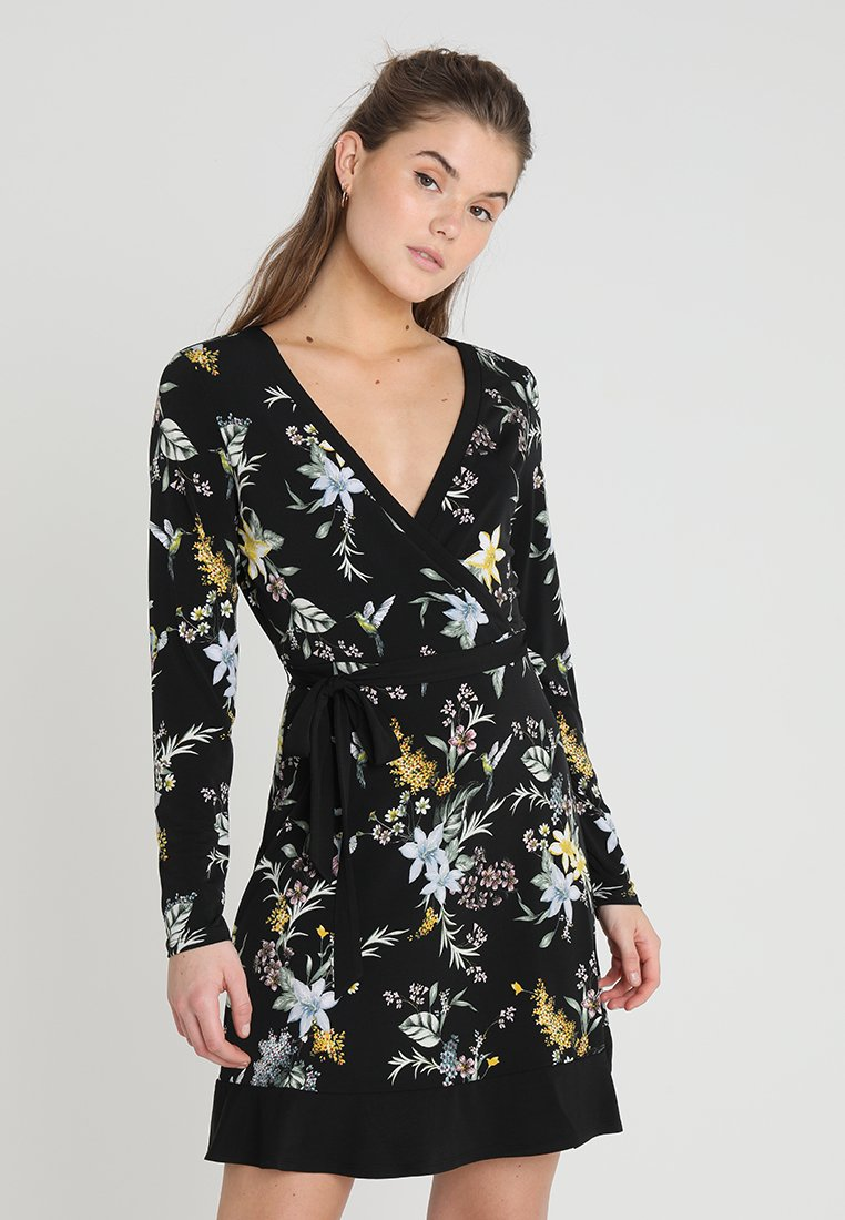 Oasis - JASMINE WRAP DRESS - Jersey dress - multi black