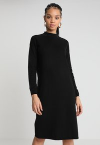 Oasis - LUCY DRESS - Stickad klänning - black - 0