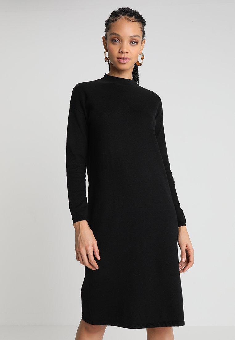 Oasis - LUCY DRESS - Stickad klänning - black