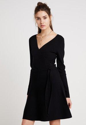 MILLIE TIE SIDE DRESS - Gebreide jurk - black
