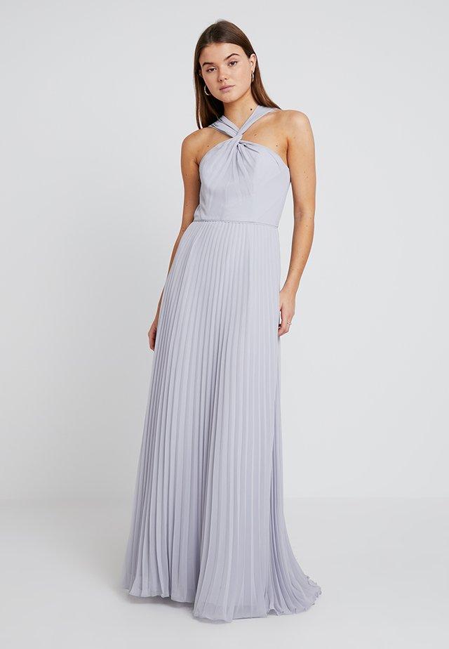 TWIST NECK PLEATED MAXI DRESS - Ballkleid - pale grey