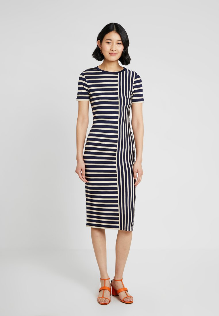 Oasis - SPLICED STRIPE TUBE DRESS - Etuikleid - multi blue