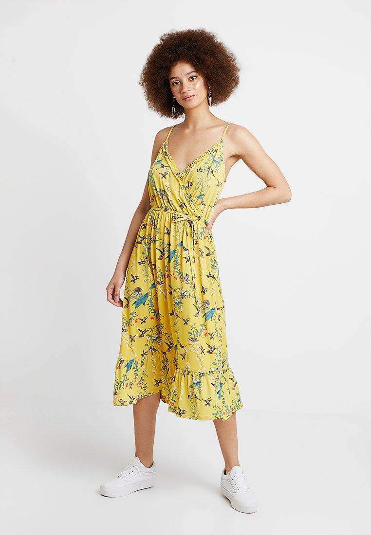 Oasis - BOTANICAL FLORAL RUFFLE WRAP DRESS - Day dress - multi/yellow
