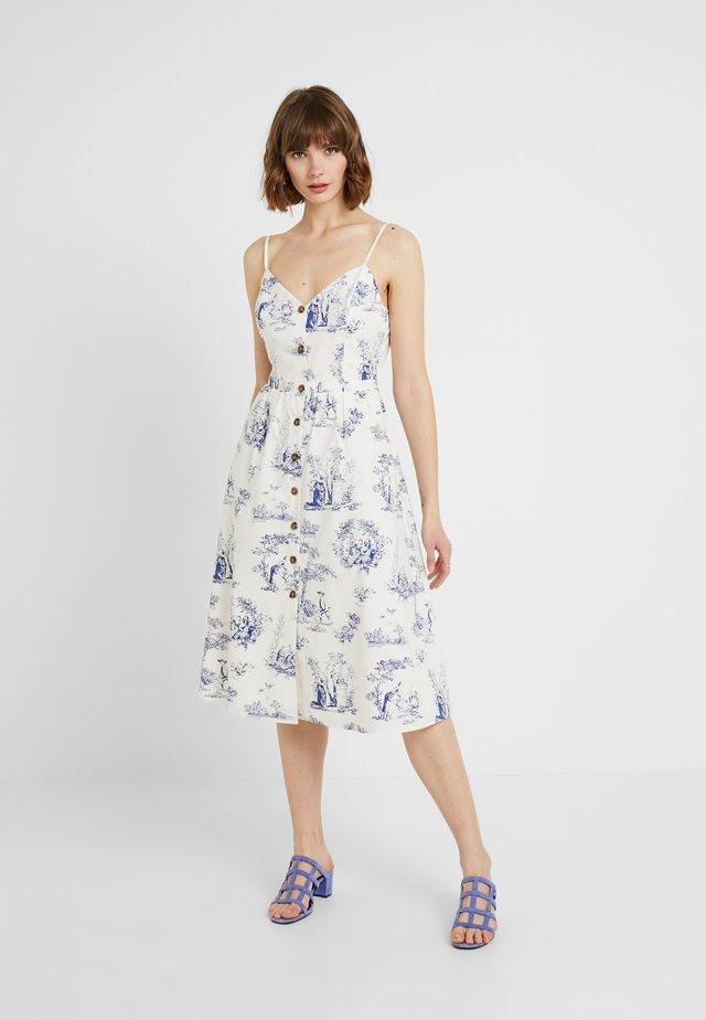 POPLIN BUTTON MIDI DRESS - Day dress - multi blue