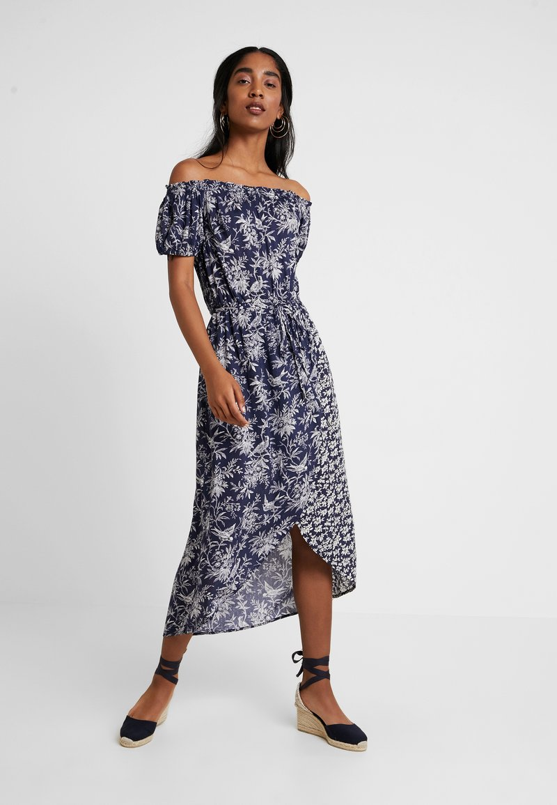 Oasis - POPLIN BARDOT DRESS - Day dress - multi