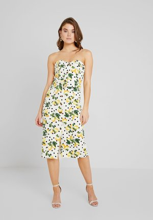 LEMON SPOT BANDEAU - Vestido informal - multi/black