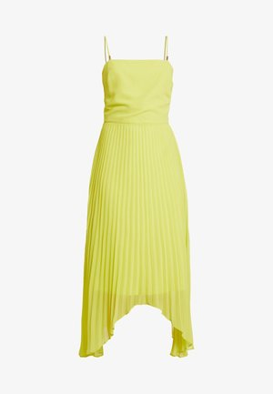 CAMI BUTTON PLEATED MIDI - Koktejlové šaty / šaty na párty - lime green