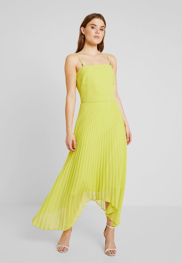 CAMI BUTTON PLEATED MIDI - Cocktailjurk - lime green