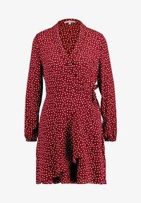 Oasis - HEART WRAP DRESS - Denní šaty - burgundy - 5