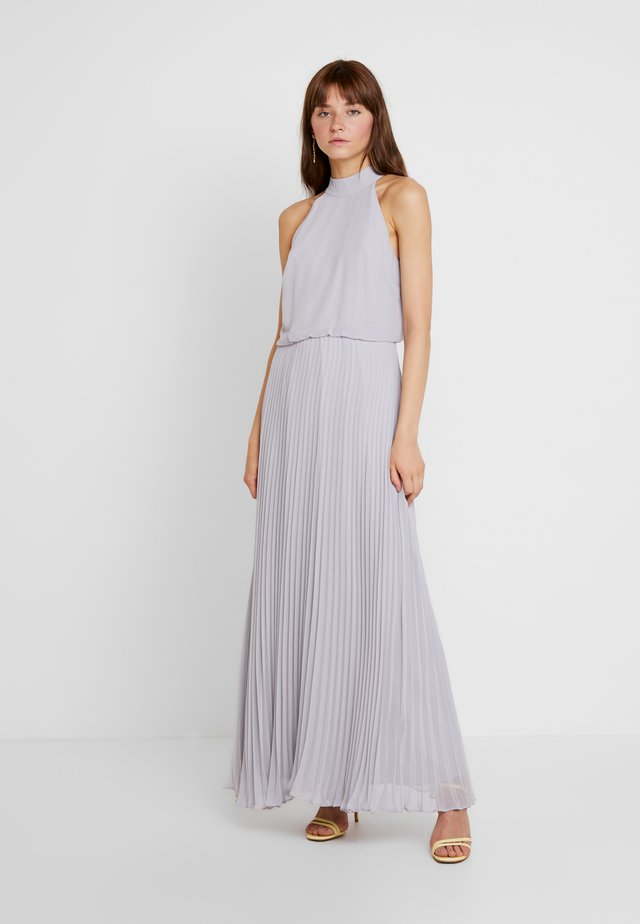 MEGAN HIGH NECK PLEAT MAXI - Maxi dress - pale grey