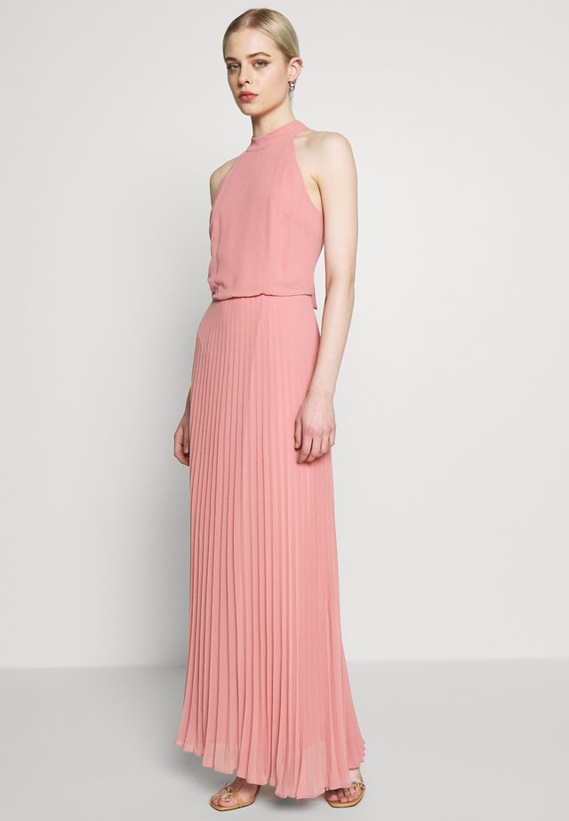 MEGAN HIGH NECK PLEAT MAXI - Maxi dress - pale pink