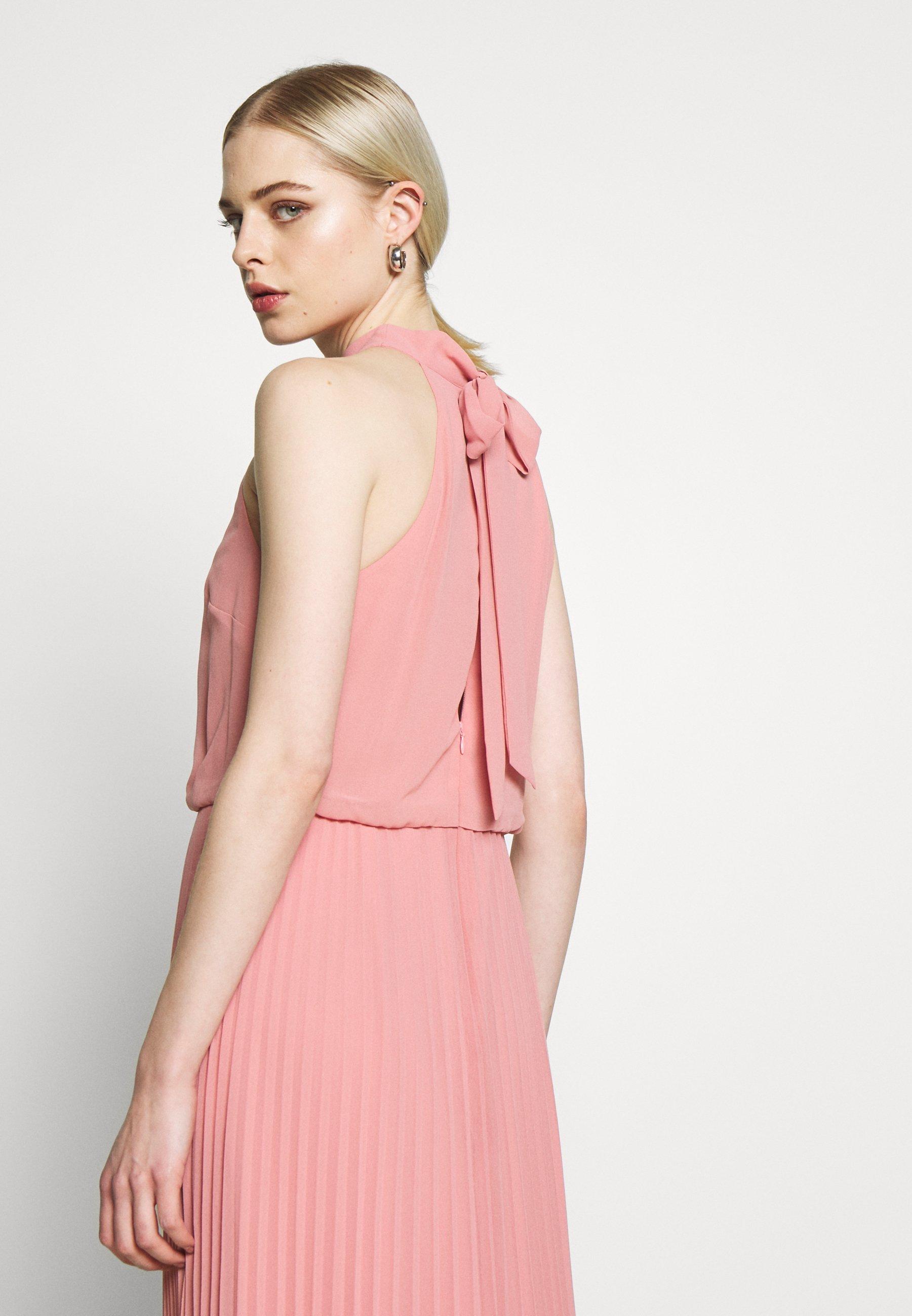 Oasis Megan High Neck Pleat Maxi - Maxiklänning Pale Pink